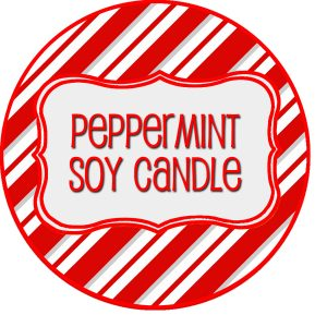 Peppermint Soy Candle Label
