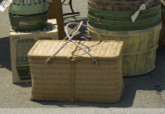 Picnic Basket and Apple Crates