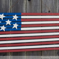 Folk Art Yardstick Flag