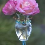 Beautiful Beaded Bud Vase