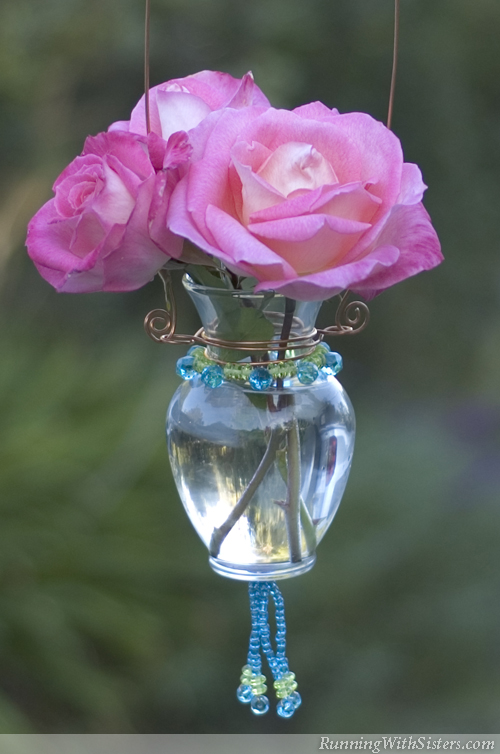 Beautiful Beaded Bud Vase