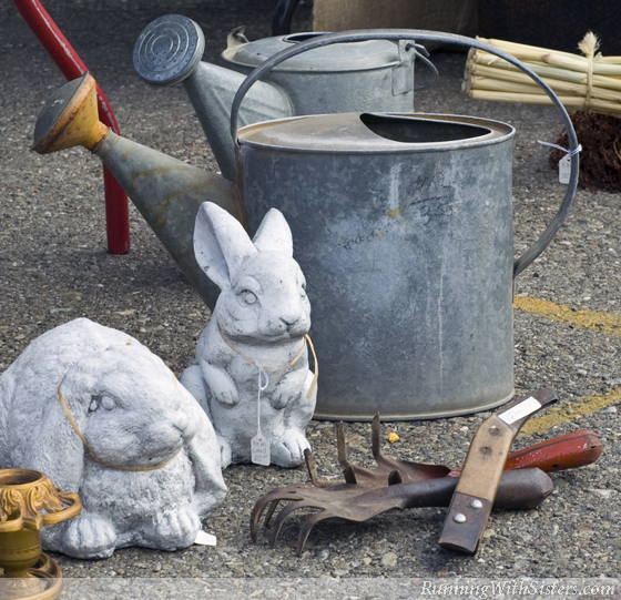 Bunny Statuary with Tools
