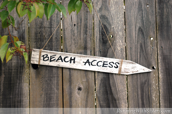 Seaside Style Beach Sign