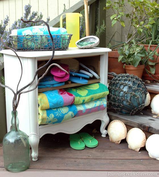 Seaside Style Shabby Chic Whitewashed Dresser