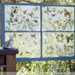 The Butterfly Effect Garden Etched Window Screen