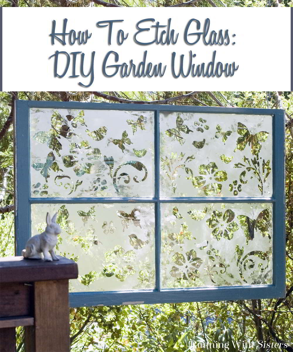Learn to etch a garden window. Upcycle a flea market window by etching it with etch cream. We'll show you how!