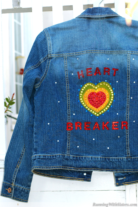 Bedazzled Jean Jacket Running With Sisters