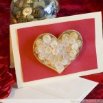 Heart of Gold Brooch Valentine Card