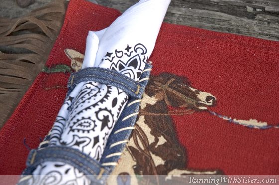 Patio Rodeo Detail Belt Loop Napkin Holder