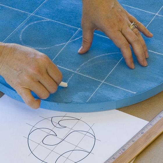Smashing Tile Table Step 4 Transfer Image to Disc