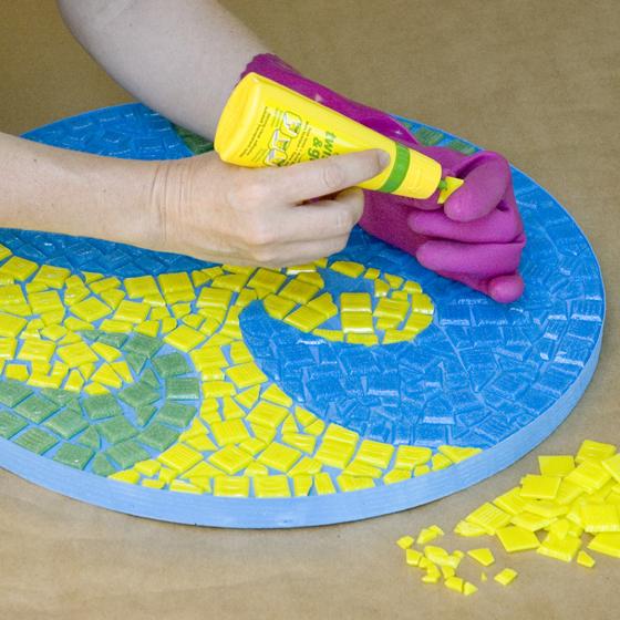 Smashing Tile Table step 6 glue tiles 115