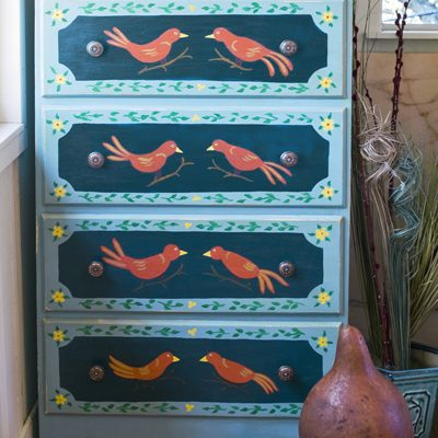 Bird-By-Bird Painted Bureau
