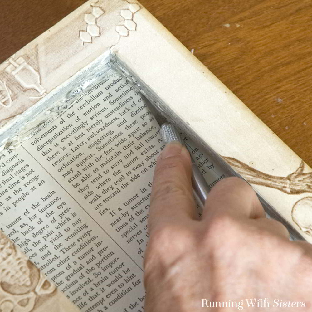 Hollow a book to make a beautiful keepsake box perfect for your tiny treasures. We'll show you how!