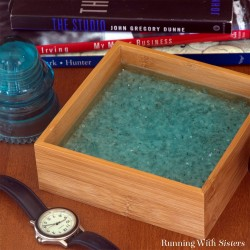 Make a broken glass and resin tray using shattered glass from a broken car window. We'll show you how to mix two-part resin to make this tray.