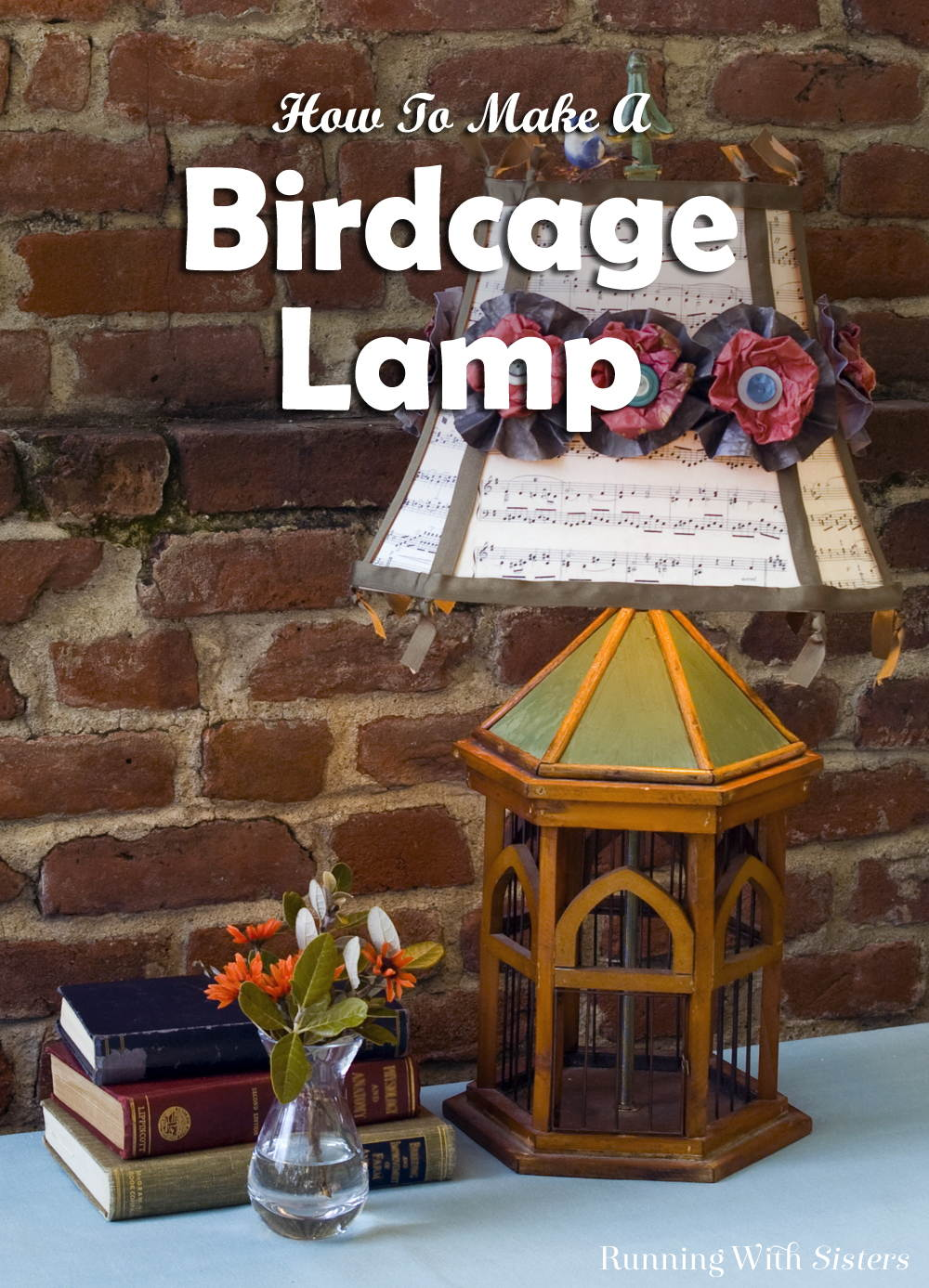 Learn how to use a lamp kit from the hardware store to turn a flea market birdcage into a real working birdcage lamp. Then embellish the shade with vintage