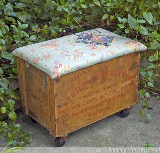 Crate Storage Ottoman