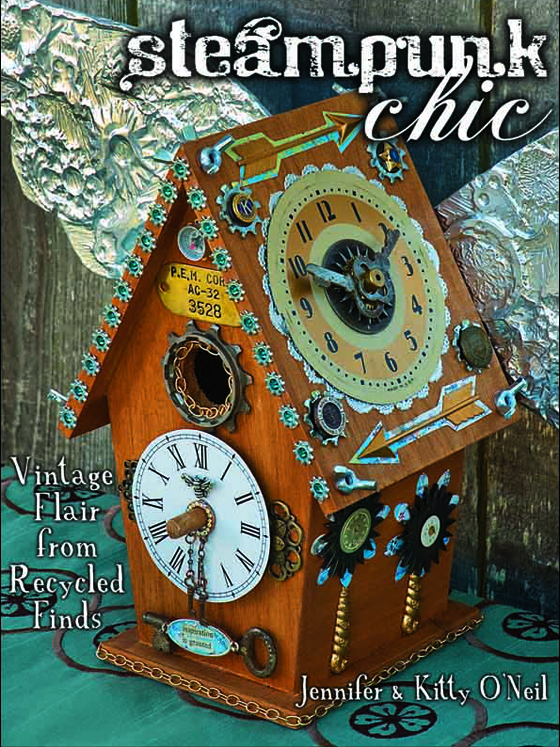 A craft book by The O'Neil Sisters. Dive into the mystery and romance of steampunk with this ultimate step-by-step guide. Everything you need to know to create your own steampunk style!