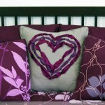 Ribbon Embroidery Heart Pillow