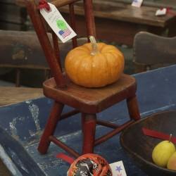 Halloween Pumpkin On Chair