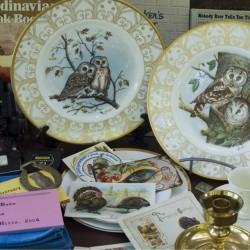 Fine China Owl Plates