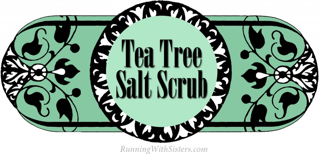 Tea Tree Salt Scrub Label
