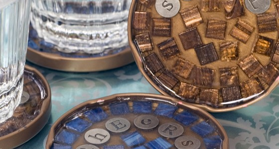 Mosaic Cocktail Coasters