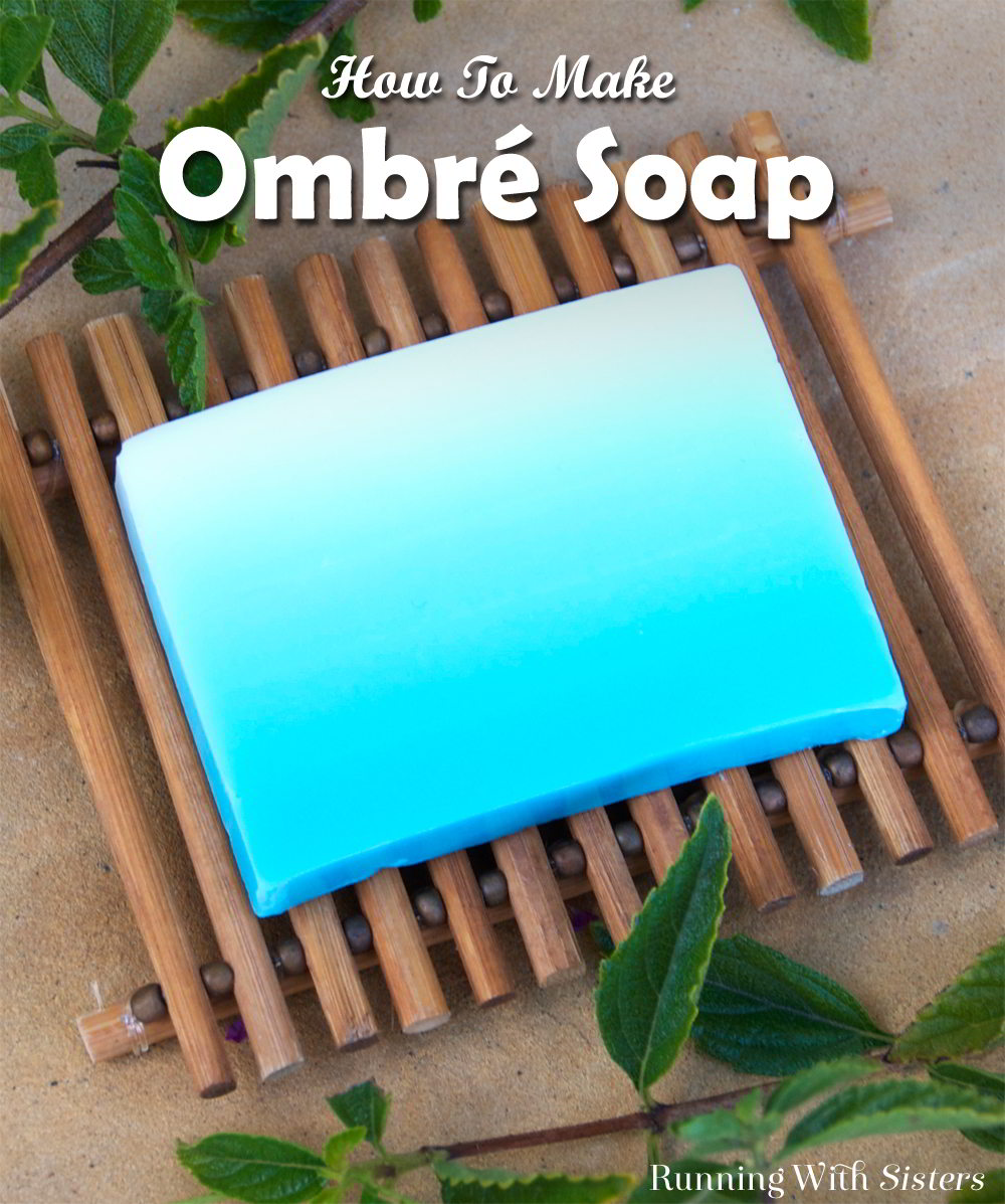 Learn to make beautiful handmade ombré soap by layering batches of soap with more and more color. Once the soap is cooled, slice into color merge soaps!