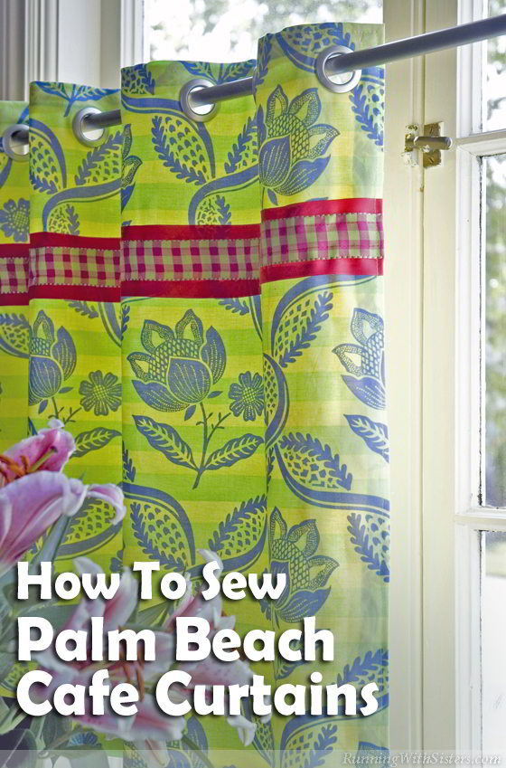 Learn to sew cafe curtains! Learn to line the cafe curtains and hem the edges. We'll show you how to add grommets and embellish with ribbon.