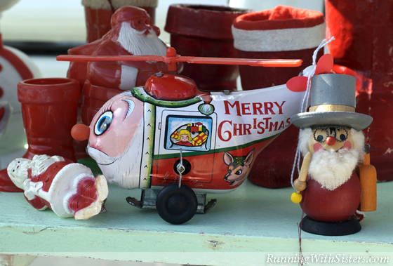 Santa Helicopter Toy