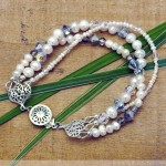 Pearl and Crystal Convertible Necklace And Bracelet