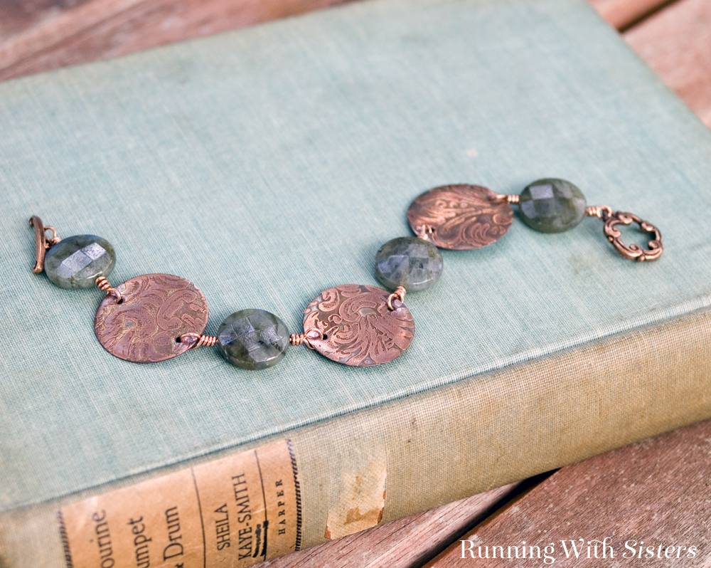 Organic Chemistry Etched Copper Bracelet 2