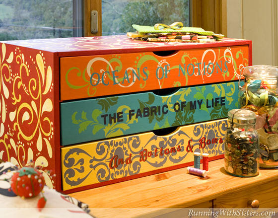 Sew Colorful Sewing Cabinet