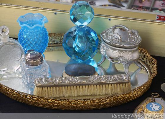 Vanity Flair Perfume Bottles on Mirror Tray