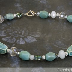 Amazonite and Crystal Necklace