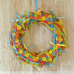Cute-As-A-Button Wreath