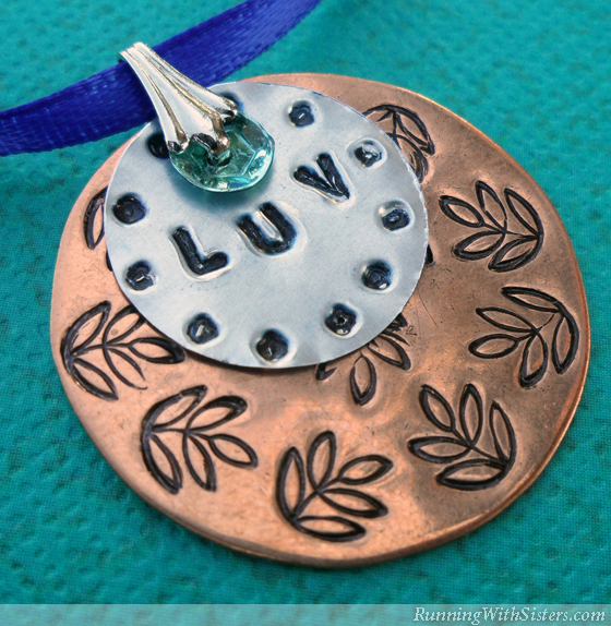 Stamped Metal Pendant