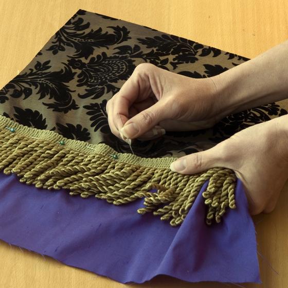 Step 3 Sew Fringe