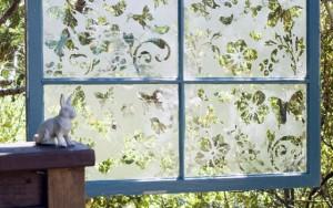 The Butterfly Effect Garden Window Screen