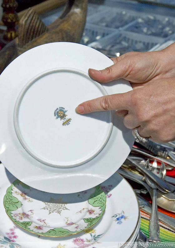 How to identify real bone china running with sisters flip each plate over and check out the backstamp it often has the manufacturers name the pattern name and even the date if it says fine china or fandeluxe Image collections