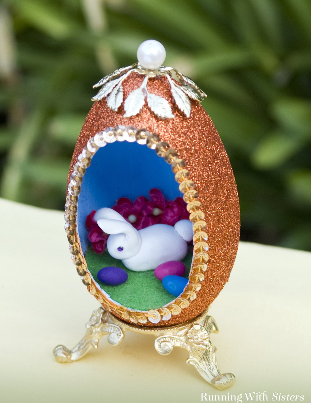Make a Peek-A-Boo Easter Egg from a real goose egg. Then create a cute bunny inside with polymer clay!