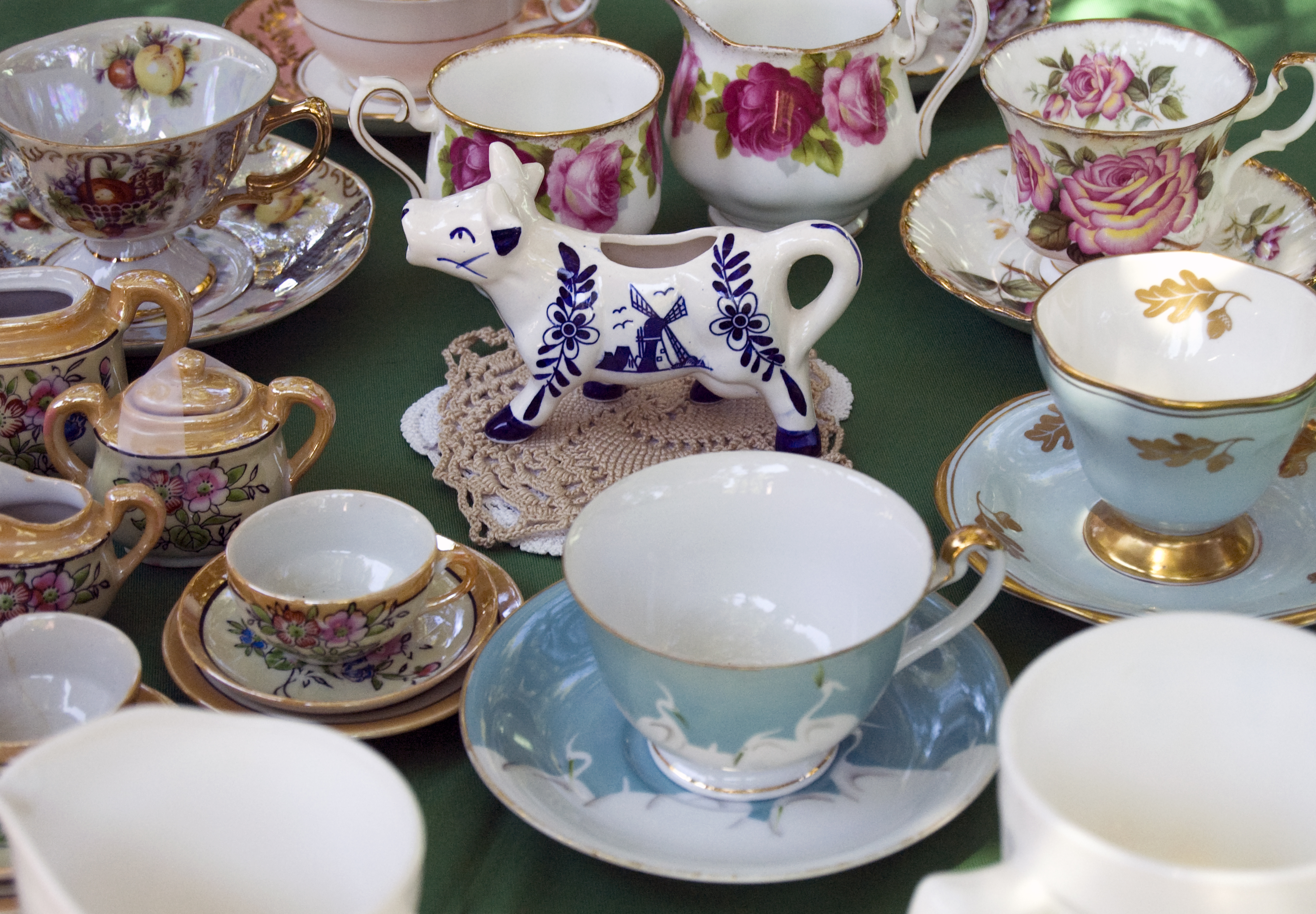 Teacups and Cow Creamer