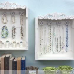 Wine Crate Jewelry Display