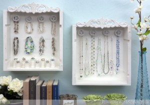 Wine Crate Jewelry Display