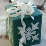 Earth Friendly Stamped Gift Wrap