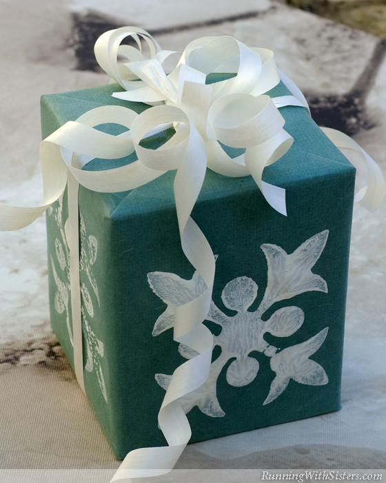 Eco Stamped Gift Wrap