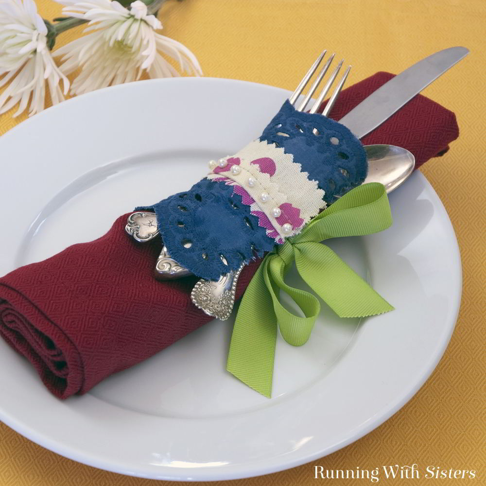 Create no sew projects from a dish towel!