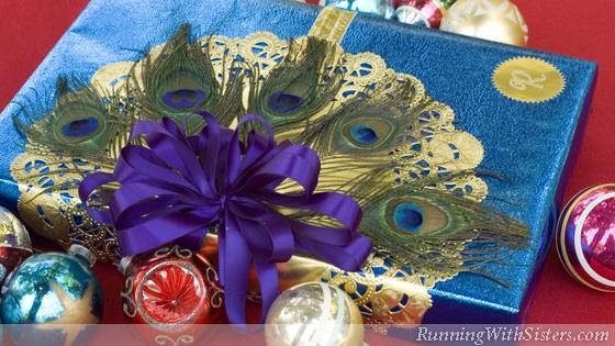 Peacock Christmas Gift Wrap