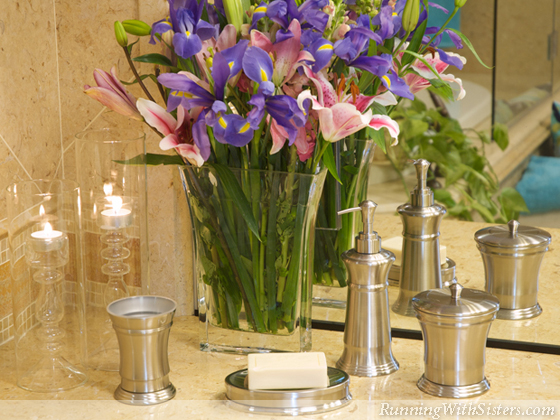Bath Decorating Trend Silver Streak