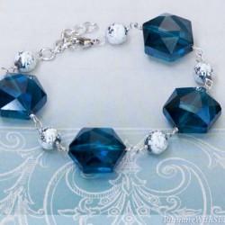 Glass Bead Wirework Bracelet