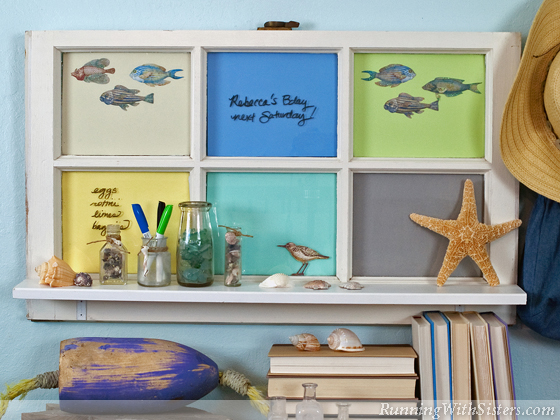 Beach Glass Window Memo Board